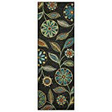 Maples Rugs Runner Rug - Reggie Artwork Collection 2 x 6 Non Skid Hallway Carpet Entry Rugs Runners [Made in USA] for Kitchen and Entryway, 2' x 6'