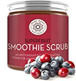 Superfruit Smoothie Scrub, 8.8 fl oz by Pure Body Naturals | Antioxidant-Rich Exfoliating Scrub for Smooth, Rejuvenated Skin