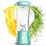 LaHuko Portable Blender Personal Size Blender Juicer Cup for Juice Crushed-ice Smoothie Shake, Two Rotating Speed, USB Rechargeable, Waterproof Blender for Outdoor Picnic Travel Gym【BPA Free Material】