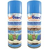 SUNGUARD Fabric UV Protectant and Sealant Spray (2 Pack) for Garden and Home Prevents Fading Spills & Stains