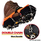EnergeticSky Upgraded Version of Walk Traction Ice Cleat Spikes Crampons,True Stainless Steel Spikes and Durable Silicone,Boots for Hiking On Ice & Snow Ground,Mountian.