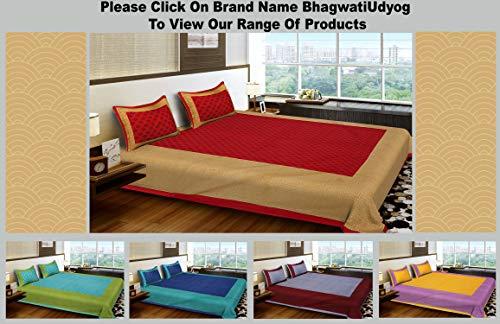 51ykirdOS5L - BhagwatiUdyog King Size Block Print Double Bedsheet Cotton with Pillow Cover