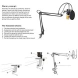 Neewer-NW-800-Professional-Studio-Broadcasting-Recording-Condenser-Microphone-NW-35-Adjustable-Recording-Microphone-Suspension-Scissor-Arm-Stand
