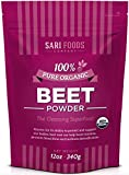 Organic Beet Root Powder (12 Ounce) Natural Plant Based, Whole Food Superfood, Vegan & Paleo Friendly