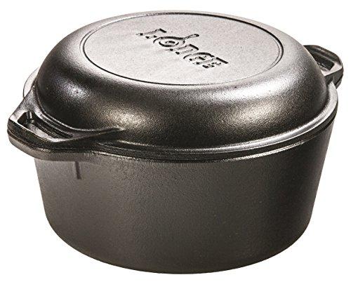 Lodge L8DD3 Cast Iron Dutch Oven, 5 qt,