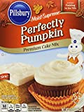 Pillsbury Moist Supreme Perfectly Pumpkin Premium Cake Mix, 15.25 Ounce