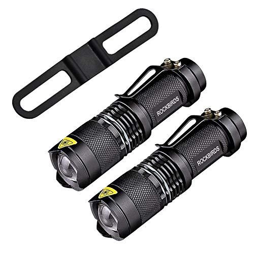 RockBirds Handheld Flashlights for Kids Child Camping Cycling Hiking Emergency Torch Light (2 PACK)