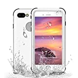 RedPepper iPhone 7 Plus/iPhone 8 Plus Waterproof Case[5.5 inch], Full Sealed Protective Cover IP68 Water Proof Case for Outdoor Sports Shockproof, Snowproof, Dirtproof (White)