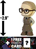 """Alfred Pennyworth: ~2.9"""" Batman v Superman 'Dawn of Justice' x Funko Mystery Minis Vinyl Figure Series + 1 FREE Official DC Trading Card Bundle [87388]"""