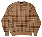Product review for Polo Ralph Lauren Purple Label Mens Sweater Plaid Khaki Brown Italy Cashmere