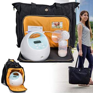 Zohzo Lauren Breast Pump Bag - Portable Tote Bag Great for Travel or Storage – Includes Padded Laptop Sleeve - Fits Most Major Pumps Including Medela and Spectra... 9 🛒 Fashion Online Shop gifts for her gifts for him womens full figure