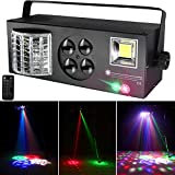Party Lights Stage Lights, U`King RGBW 4 in 1 Mixed Lighting Effects LED Pattern Strobe Light by DMX and Remote Control Sound Activated for DJ Disco Lights Wedding Birthday Club