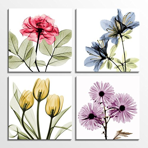 Tulip Rose Wall Art Painting For Kitchen Room Golden: Gorgeous, Colorful And Charming Tulip Wall Art