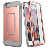 YOUMAKER Case for iPhone 6S Plus, Full Body with Built-in Screen Protector Heavy Duty Protection Shockproof Cover for Apple iPhone 6S Plus (2015) / 6 Plus (2014) 5.5 Inch - Rose Gold/Gray