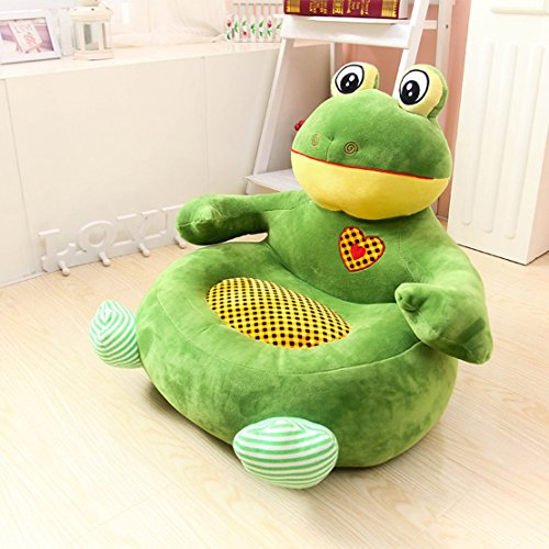 MAXYOYO Big Kindergarten Cartoon Bear/Dog/Frog/Monkey Stuffed Plush Toy Sofa Chair,Tatami Backrest Seat for Teens/Toddlers/Baby,Birthday Gift for Children (frog)