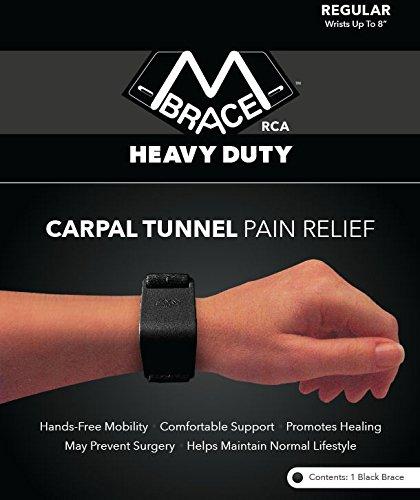 M BRACE RCA - HEAVY DUTY - Carpal Tunnel Treatment Wrist Support (Regular, Black)