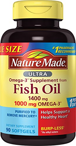 Nature Made Ultra Omega-3 Fish Oil Value Size Softgel
