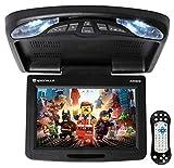 Rockville RVD12HD-BK 12' Black Flip Down Car Monitor DVD/USB/SD Player + Games