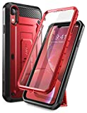 iPhone XR Case,SUPCASE Full-Body Rugged Holster Case with Built-in Screen Protector for Apple iPhone XR 6.1 Inch (2018 Release), Unicorn Beetle Pro Series -Retail Package (MetallicRed)