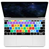 HRH Adobe Photoshop PS Hotkey Silicone Keyboard Cover Skin for MacBook New Pro 13' A1708 A1988 No Touch Bar 2018 2017 2016 Release and MacBook 12' A1534 (2015)&A1931(2018) USA Layout Protective Skin