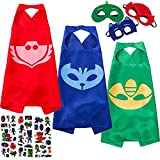 NuGeriAZ Costumes and Dress up for Kids - Catboy Owlette Gekko Capes and Masks Superhero Capes for Kids