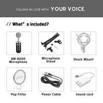 ZINGYOU-BM-8000-Professional-Studio-Condenser-Microphone-Set-XLR-Condenser-Mic-Bundle-for-Recording-Black