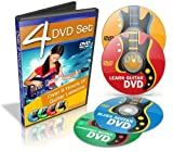 9 Hours Guitar Lessons - Learn How to Play Guitar - 4 DVD Combo Set