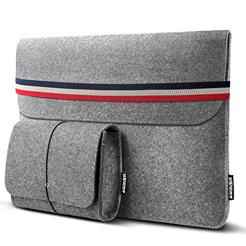 Christmas/New Year Gifts 13-13.3″ laptop sleeves with extra storage pouch,13.3 inch felt bag Ultrabook laptop case for 13-inch MacBook Pro 2016/2017/2018, MacBook Air 2018, iPad Pro 12.9 laptop bag