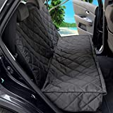 Big Bargains Online Dog Car Seat Cover for Back Seat of Cars/SUV; Waterproof Hammock with Mesh Window, Side Flaps, Belt Hook and Elastic Durable Nylon Dog Safety Belt