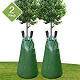 Remiawy Tree Watering Bag 2 Pack 20 Gallon Slow Release Watering Bag for Trees and Plants, Tree Water Bag Made of Heavy-duty PE Tarpaulin Material with Zipper-Updated Version(5-8 Hours Releasing Time)