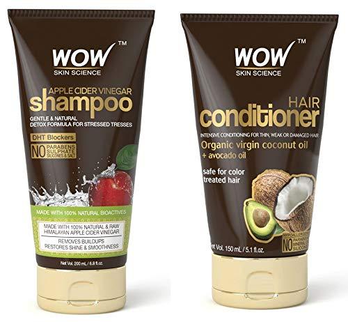 Wow Apple Cider Vinegar Shampoo 6.8 fl oz + Wow Hair Conditioner 3.38 fl oz