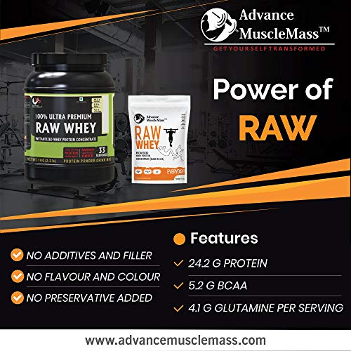 Advance MuscleMass Raw Whey Protein Concentrate with Enzyme blend