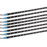 Yolu 8pcs 60cm LED Strip Lights Kits 30SMD 1210 LED Tape Light for Neon Underglow Underbody, High Intensity Undercar Strip Lighting, LED Rock Lights, Motorcycle LED Light Kit Strips