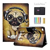 iPad Mini Case - LittleMax [Cards Holder] Ultra Slim Lightweight Thin PU Leather Stand Flip Case Cover with Auto Sleep/Wake for iPad Mini 1/2/3/4-7.9 Inch -# Headphone Dog