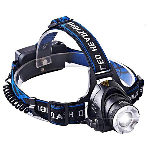 1800 Lumens CREE LED Headlamp Super Bright Waterproof Zoomable 3 Modes with Rechargeable Batteries Hands-free Headlight Torch Flashlight for Biking Camping Hunting Fishing
