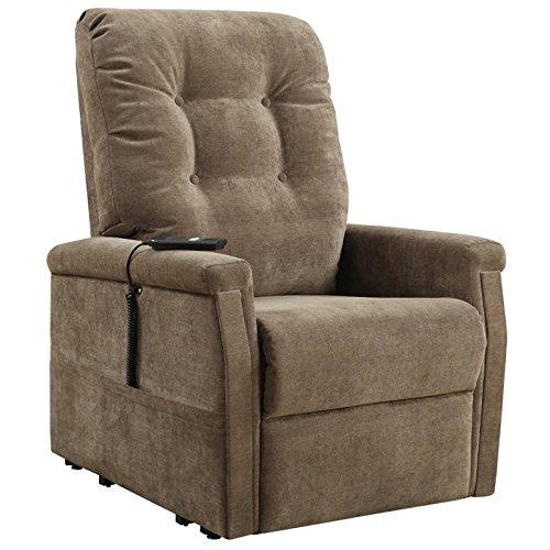 Pulaski DS-1667-016-051 Montreal Coffee Fabric Lift Chairs, 31.5' 37.8', Brown