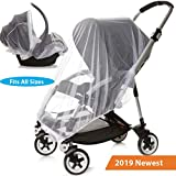 Car Seat Stroller and Crib Mosquito Net Cover White