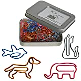 Cool Paper Clips Assorted Colors - Animal Shaped Bookmark Clips - Funny Desk Accessories Office Supplies Decor Gift Birthday Gift for Women