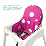 Ikea Antilop Highchair Seat Covers & Cushion by AT, Washable Foldable Baby Highchair Cover Ikea Childs Chair Insert Mat Cushion (Purple)