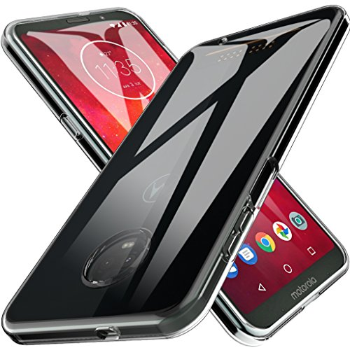 LK Case for Moto Z3 Play, Moto Z3 Ultra [Slim Thin] Scratch Resistant TPU Rubber Soft Skin Silicone Protective Case Cover for Motorola Moto Z3 Play - Clear