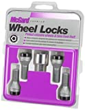 McGard 27326 Chrome/Black Bolt Style Cone Seat Wheel Lock Set