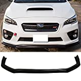 Front Bumper Lip Fits 2015-2019 Subaru WRX STI | CS Style Black PU Front Lip Finisher Under Chin Spoiler Add On by IKON MOTORSPORTS
