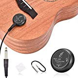 OTraki Acoustic Guitar Pickup Microphone Transducer Picks Self Adhesive Volume Control Piezo Pickups Contact for Ukulele, Violin, Mandolin, Banjo, Cello, Drum, Kalimba Pick-up Black