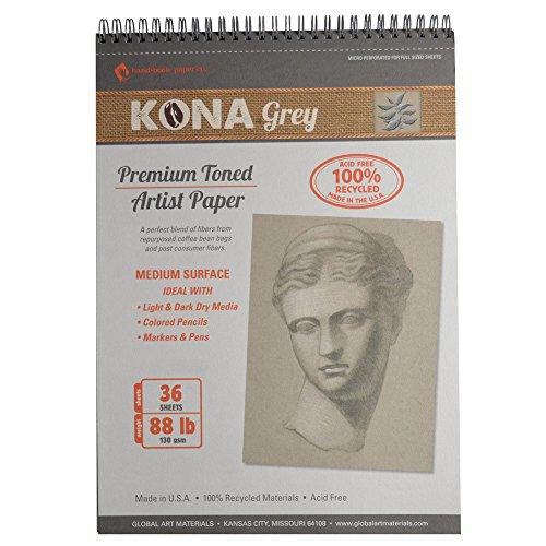 Global Art Materials Kona Grey Toned Artist Paper Pad