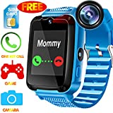 Kids Phone Smart Watch - [Speedtalk SIM Included] Kids Smartwatch for Girls Boys with HD Touch Screen SOS Cell Phone Camera Game  Alarm Clock Digital Wrist Watch Learning Toy Birthday School Gifts