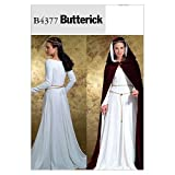 Butterick Patterns B4377 Floor-Length Cape and Princess Seam Dress Sewing Pattern, Size EE (14-20)