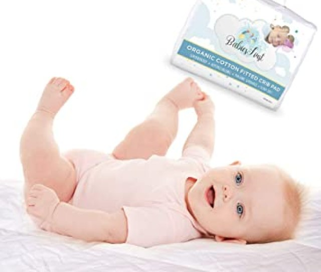 Organic Cotton Crib Mattress Protector Pad Soft Breathable Infant Fitted Waterproof Cover Fits