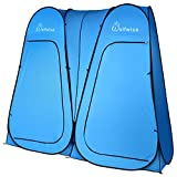 WolfWise Pop Up Utilitent – Privacy Portable Camping, Biking, Toilet, Shower, Beach and Changing Room Extra Tall, Spacious Tent Shelter. (D Door Double Blue)