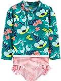 Simple Joys by Carter's Girls' Toddler 2-Piece Rashguard Set, Floral, 5T