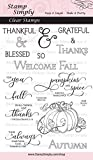 Stamp Simply Clear Stamps Thanksgiving Welcome Fall Christian Religious 4x6 Inch Sheet - 16 Pieces